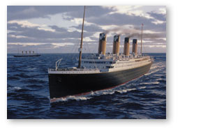 Titanic passing Olympic